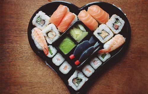 Sushi Heart with Wasabi